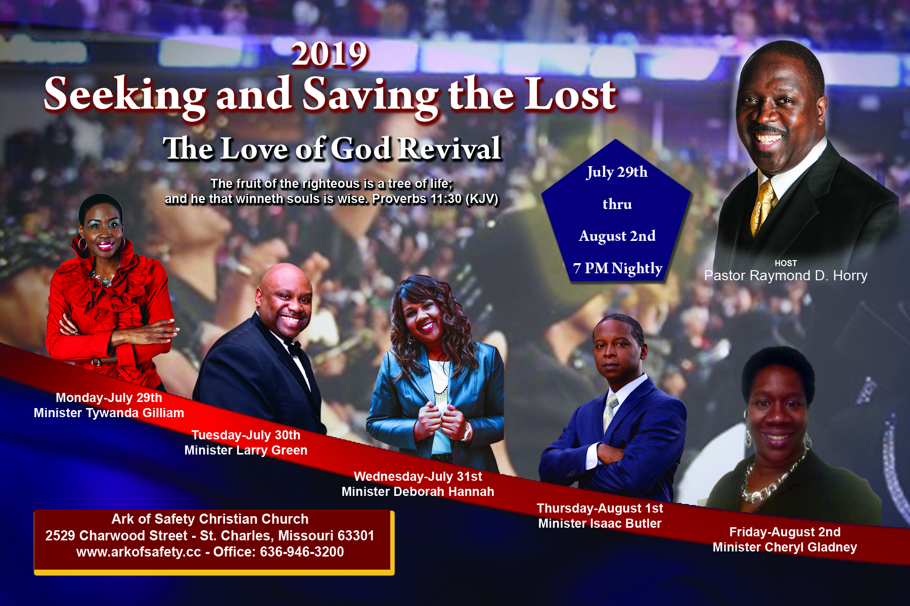 All events for 2019 The Love of God Revival – Ark of Safety